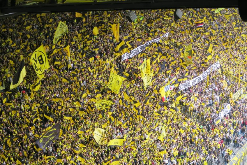 BVB Blick auf die gelbe Wand
